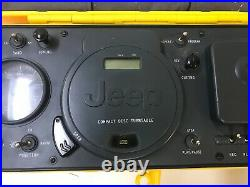 Jeep Portable Boombox, CD Player, FM/AM Radio, Cassette Player in Yellow WPSS-1A