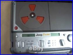 Jeep Portable Stereo Aluminum Z-Case Boombox Model ZC-PSB-9 AM/FM /WB CD player