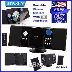 Jensen AM/FM Radio CD Player Portable Stereo System with Aux-input