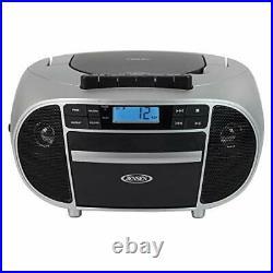 Jensen CD-550SMP3 Top-Loading Boombox CD/MP3 Black Series CD/MP3 AM/FM Radio