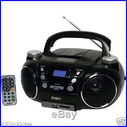 Jensen CD-750 CD Radio Boombox Portable AM/FM Stereo CD Player with MP3 Encoder