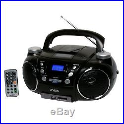Jensen CD-750 Portable Boombox CD Player AM/FM Radio WithMP3 Encoder/Player Aux-in