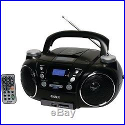 Jensen CD750 Portable AM/FM Stereo CD Player with MP3 Encoder/Player (Black)
