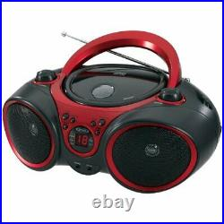 Jensen Cd490 Blk/red Portable Compact Disc Player With Am Fm