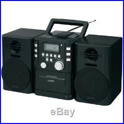 Jensen boombox stereo system, radio, cassette, music Portable cd player