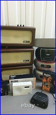 Job lot of 25 x FAULTY Bush CD Boombox, DAB Radios, Cassette, Bluetooth Speakers