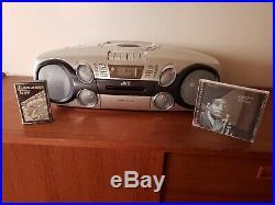 Jvc Rc-bm5 Portable Boombox Mp3 CD Tape Cassette 2002