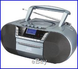 Jvc Rc-d327b Portable CD Player Stereo Mega Bass Boombox Dab Fm Radio Bluetooth