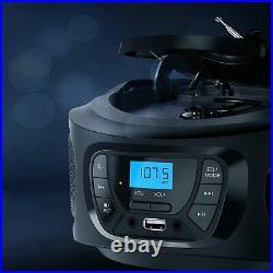 KLIM Boombox Portable Audio System. FM Radio, CD Player, Bluetooth, MP3, USB, +