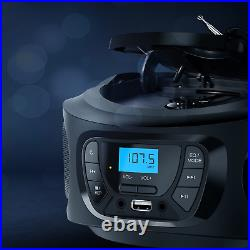 KLIM Boombox Portable Audio System. FM Radio, CD Player, Bluetooth, MP3, USB, AU