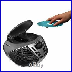 KORAMZI Portable CD Boombox with AMFM Radio, AUX IN, Top Loading CD Player, Telesco