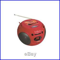 LEXIBOOK Boombox Disney Cars AM/FM Radio Top-Loader CD-Player 2 Lautspr RCD102DC