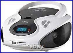 Lauson CP430 Portable CD Player USB Radio AM/FM Mp3 USB SD-Card Boombox Music IN