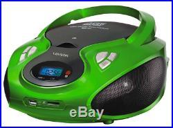 Lauson CP433 Portable CD Player USB Radio AM/FM Mp3 USB SD-Card Boombox Music Sy