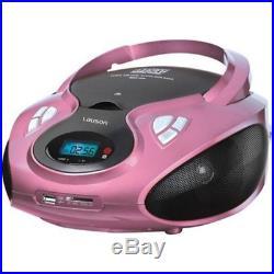 Lauson CP438 Portable CD Player USB Radio AM/FM Mp3 USB SD-Card Boombox Music Sy