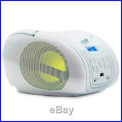 Lauson CP556 Boombox with Cd Player Mp3 Portable Radio CD-Player White