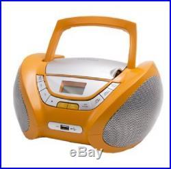 Lauson Cd-Player Boombox Stereo Portable Radio USB MP3 Headphone CP747 Orange