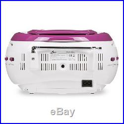 Lava Portable CD Player with FM Tuner and Line-In for MP3 Playback Purple