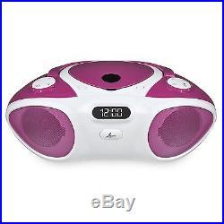 Lava Purple Boombox XL Portable CD Player with FM Radio + Bluetooth Grade A