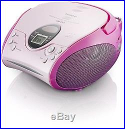 Lenco SCD-24 Portable CD Player With FM Tuner Radio Pink
