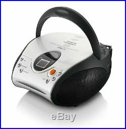 Lenco SCD-24 Portable Stereo Boombox with Programmable CD Player & FM Radio