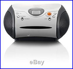 Lenco SCD-24 Portable Stereo Boombox with Programmable CD Player & FM Radio &