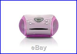 Lenco SCD-24 Portable Stereo Boombox with Programmable CD Player and FM radio