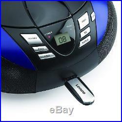 Lenco SCD-37 Portable Stereo FM Radio, CD & MP3 Player Boombox With USB Blue
