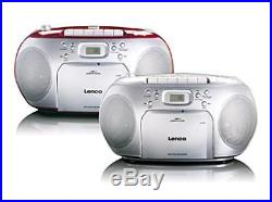 Lenco SCD-420 Red Portable Stereo FM Radio CD Player And Cassette Boombox NEW