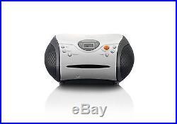 Lenco White SCD-24 Portable FM Radio CD Player Boombox Battery & Mains Grade A