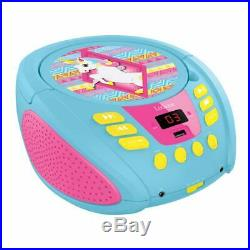 Lexibook RCD108UNI Unicorn Boombox Portable Radio CD Player Original /Brand New