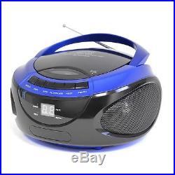 Lloytron N8203 Portable Stereo CD Player With AM/FM Radio LED Display Blue New