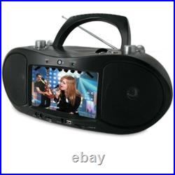 Magnasonic MAG-MDVD500 Portable CD/DVD Player Boombox with 7 Widescreen LCD NEW