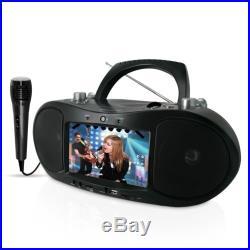 Magnasonic Portable CD/CD+G/DVD Player Karaoke Boombox with Karaoke Microphone
