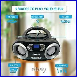 Megatek CB-M25BT Portable CD Player Boombox with FM Stereo Radio Bluetooth Wi