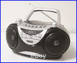 NAXA Electronics Portable CD Player with AM/FM Stereo Radio and Cassette Play