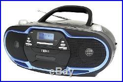 NAXA Electronics Portable MP3/CD Player, AM/FM Stereo Radio and USB Input Black