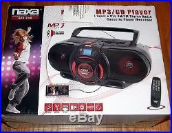 NAXA NPB 259 Portable MP3/CD Player Recorder BOOMBOX AM/FM Stereo Radio Cassette