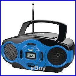 NAXA NPB-264 BL Portable CD/MP3 Mini Boom Boxes & USB Player (Blue)