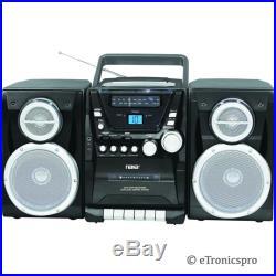 NAXA NPB-426 PORTABLE CD PLAYER with AM/FM STEREO RADIO CASSETTE PLAYER RECORDER
