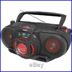 NAXA NPB259 Portable CD/MP3 Cassette Player AM/FM Radio with Subwoofer