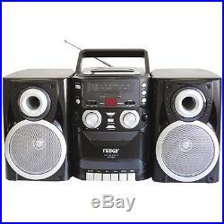 NAXA NPB426 Portable CD Player with AM/FM Radio Cassette Detachable Speakers