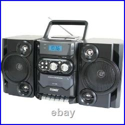 NAXA NPB428 Portable CD/MP3 Player with AM/FM Radio, Detachable Speakers, Rem