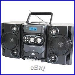 NAXA NPB428 Portable CD/MP3 Player with AM/FM Radio Detachable Speakers Remote