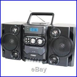 NAXA NPB428 Portable CD Player Boombox AM/FM Radio USB Aux-Inputs 110V/220V