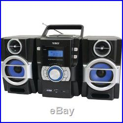 NAXA NPB429 Portable CD/MP3 Player with PLL FM Radio Detachable Speakers Remo