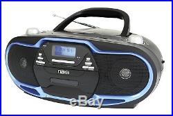 NAXA Portable MP3/CD Player AM/FM Stereo Radio & USB Input Black/Blue