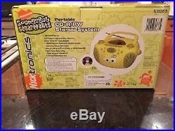 NEW IN BOX Spongebob Boombox Portable Radio/CD/Cassette/ Player Model No. SB288