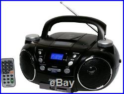 NEW Jensen CD-750 Portable AM/FM CD Player AUX Boombox with MP3 Encoder & Remote