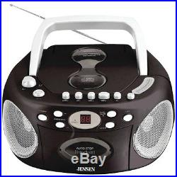 NEW Jensen Cd-540 Portable Stereo Cd Player With Cassette & Am/fm Radio